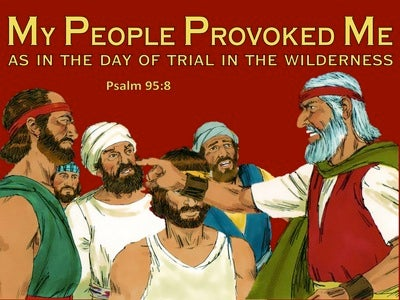 Psalm 95:8 Dont Harden Your Heart As Israel In The Wilderness (yellow)