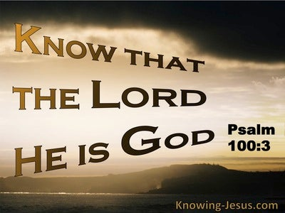 Psalm 100:3 Know That The Lord Is God (brown)
