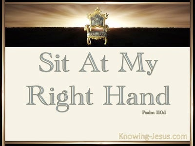 Psalm 110:1 Sit at My Right Hand (cream)