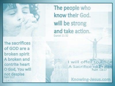 Psalm 116:17 I Will Offer A Sacrifice Of Praise (aqua)
