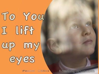 Psalm 123:1 To You I Lift Up My Eyes (orange)