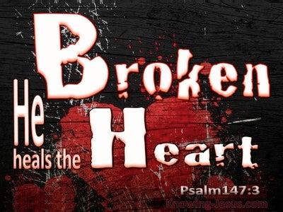 Psalm 147:3 He Heals The Broken Heart (black)