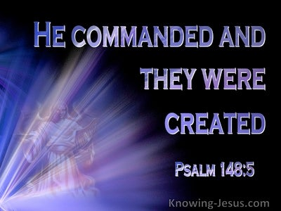 Psalm 148:5 Let Them Praise The Name Of The Lord (black)