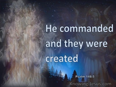 Psalm 148:5 Let Them Praise The Name Of The Lord (blue)