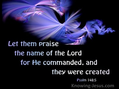 Psalm 148:5 Let Them Praise The Name Of The Lord (purple)