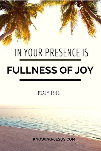 Psalm 16:11 In Your Presence Is Fullness Of Joy (cream)