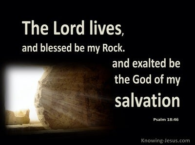 Psalm 18:46 The Lord Lives, And Blessed Be My Rock (brown)