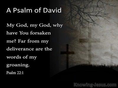 Psalm 22:1 My God  My God  Why Have You Forsaken Me (gray)