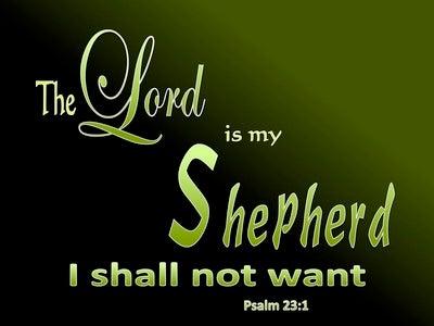 Psalm 23:1 The Lord Is My Shepherd (black)