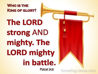 Psalm 24:8 Who Is The King Of Glory (red)
