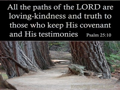 Psalm 25:10 All The Paths Of The Lord Are Loving:Kindness And Truth (brown)