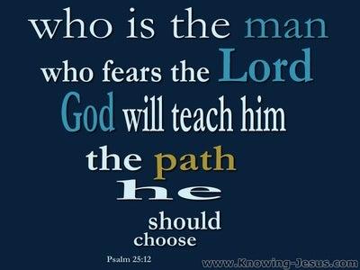 Psalm 25:12 He Who Fears God (blue)