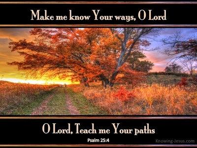 Psalm 25:4 Make Me Know Your Ways (black)
