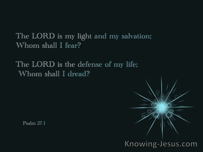 Psalm 27:1 The Lord My Light (blue)