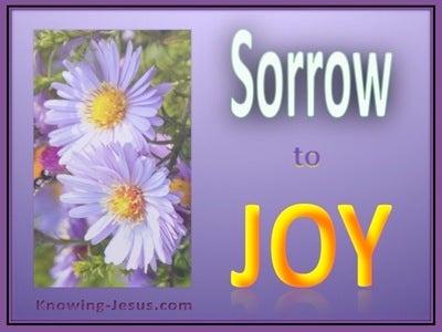 Psalm 30:5 Sorrow to Joy (devotional) (yellow)