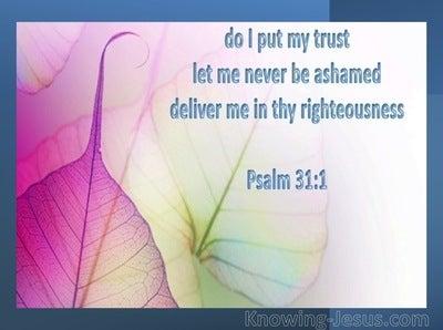Psalm 31:1 In You I Have Refuge (blue)