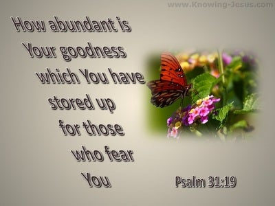 Psalm 31:19 How Abundant Is Your Goodness (gray)