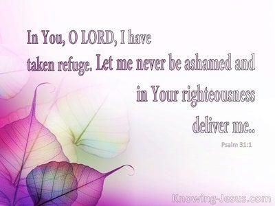 Psalm 31:1 In You I Have Refuge (pink)