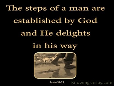 Psalm 37:23 The Lord Establishes The Steps Of A Man (black)
