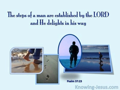 Psalm 37:23 The Lord Establishes the Steps of a Man (blue)