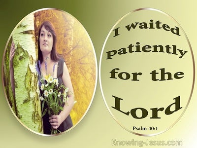 Psalm 40:1 Wait Patiently For The Lord (green)