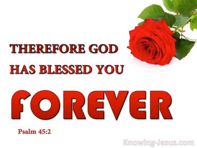 Psalm 45:2 Grace Is Poured On Your Lips (red)