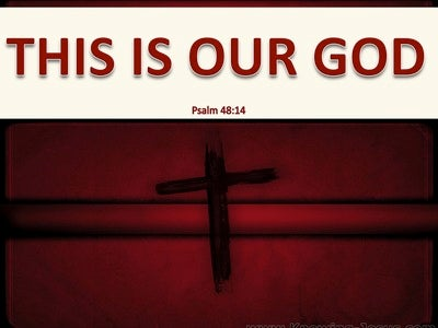 Psalm 48:14 This is Our God (beige)
