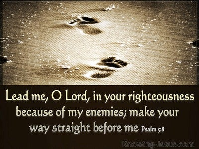 Psalm 5:8 Lead Me O Lord (beige)