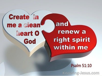 Psalm 51:10 Create In Me A Clean Heart (silver)