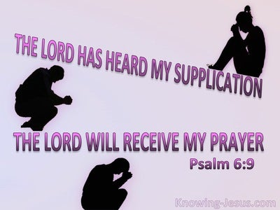 Psalm 6:9 The Lord Has Heard My Supplication (pink)