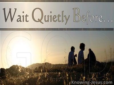 Psalm 62:5 My Soul Wait Quietly For God (beige)