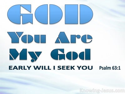 Psalm 63:1 You Are God Early Will I Seek You (aqua)