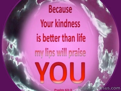 Psalm 63:3 I Will Praise You (pink)