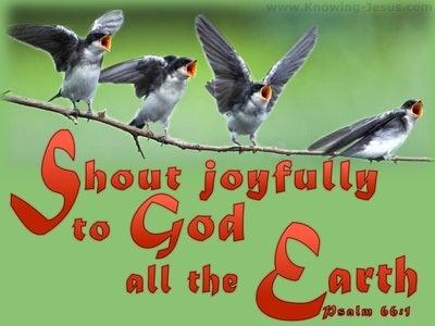 Psalm 66:1 Sing Joyfully To God (orange)