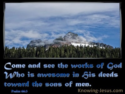 Psalm 66:5 God is Awesome In His Deeds (blue)