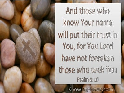 Psalm 9:10 All Who Know Your Name Put Their Trust In You (brown)