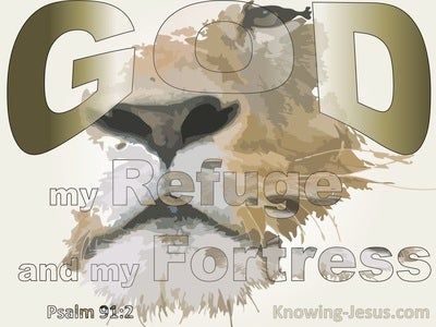 Psalm 91:2 God My Refuge And Fortress (beige)