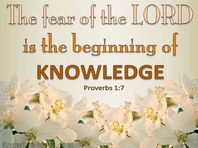 Proverbs 1:7 The Fear Of The Lord (pink)