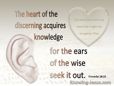 Proverbs 18:15 The Heart Of The Discerning Acquires Knowledge (gray)