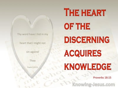 Proverbs 18:15 The Heart Of The Discerning Acquires Knowledge (red)