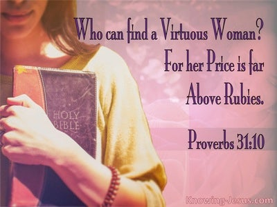 Proverbs 31:10 Who Can Find A Virtuous Woman (pink)