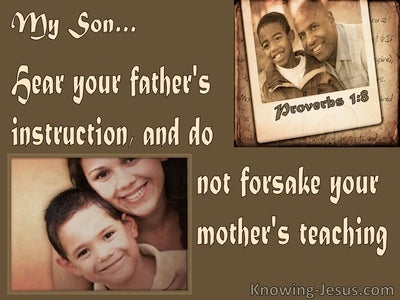 Proverbs 1:8 Hear Your Father's Instruction (brown)