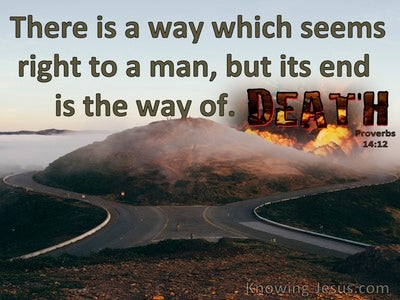 Proverbs 14:12 There Is A Way That Seems Right (brown)