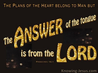 Proverbs 16:1 The Plans Of A Man (gold)