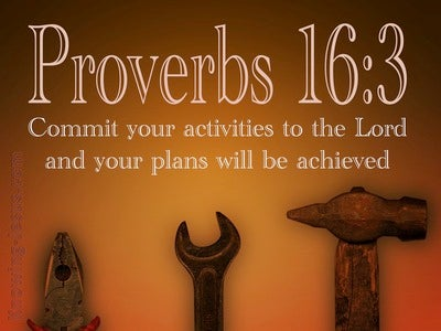 Proverbs 16:3 Commit Your Plans To The Lord (brown)