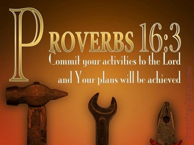 Proverbs 16:3 Commit Your Plans To The Lord (gold)