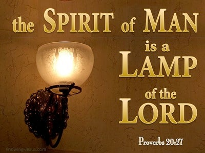 Proverbs 20:27 The Spirit Of Man Is A Lamp Of The Lord (yellow)