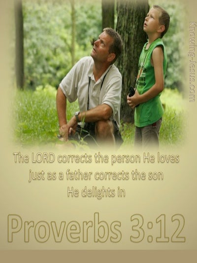 Proverbs 3:12 God Corrects Us (beige)