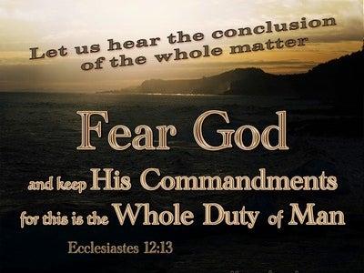 Ecclesiastes 12:13 Fear God And Keep His Commandments (brown)
