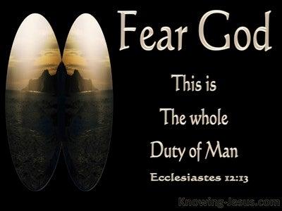 Ecclesiastes 12:13 Fear God And Keep His Commandments (black)